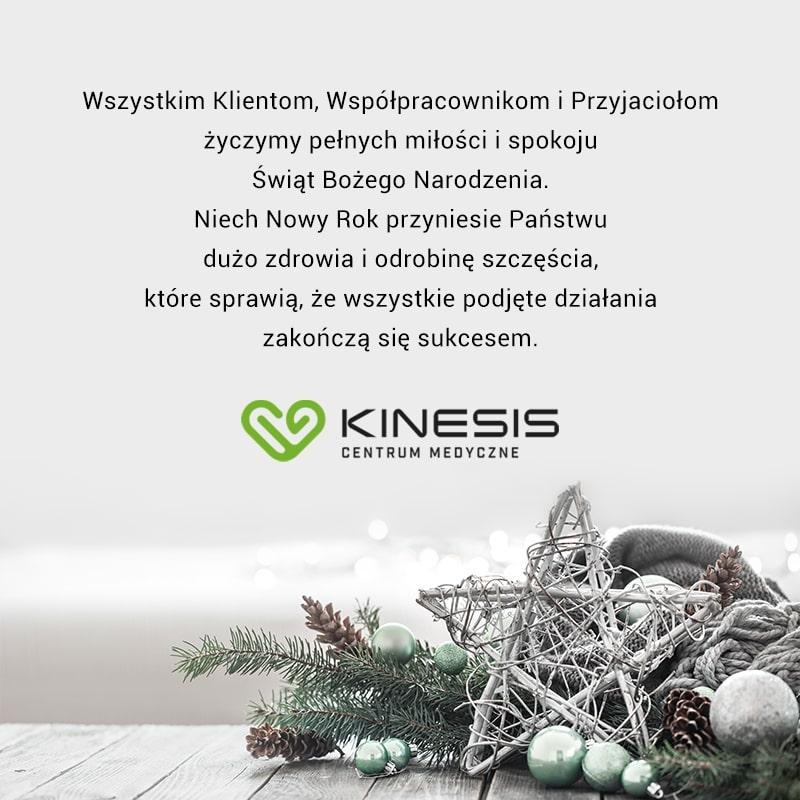 kinesis kartka świąteczna